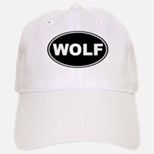 Wolf Black Oval Cap