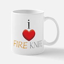 I Love Fire Knife Mug