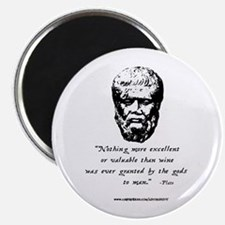 Drinking with Plato Magnet