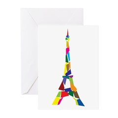 Eiffel Tower Greeting Cards (Pk of 10)