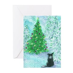 When Christmas trees were tall Greeting Cards