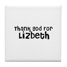 Thank God For Lizbeth Tile Coaster