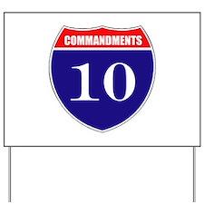 10 Commandments Yard Sign