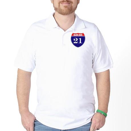 21 BlackJack! Golf Shirt