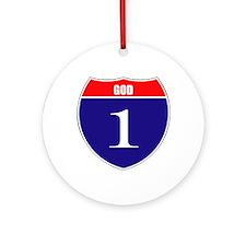 One God Ornament (Round)