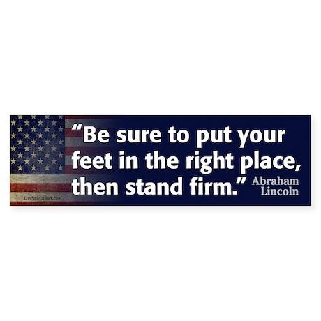Abraham Lincoln Quote Sticker (Bumper)