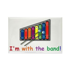 I'm with the band Rectangle Magnet (10 pack)