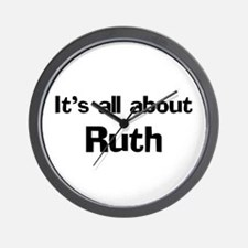 It's all about Ruth Wall Clock