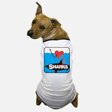 I Love Sharks Dog T-Shirt