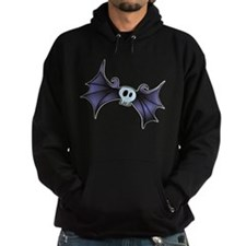 Purple Skull Bat Hoodie