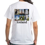 Iceland Mens Classic White T-Shirts