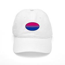 Oval Bi Pride Flag Baseball Cap
