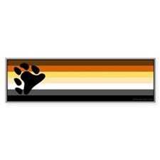 Bear Pride Flag Bumper Bumper Sticker