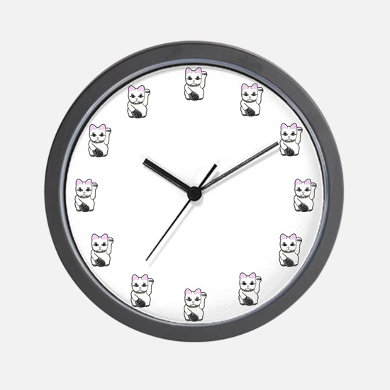Lucky Cat Clock Wall Clock