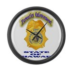 Hawaii Office of Narcotics En Large Wall Clock
