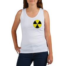 Yellow Radiation Symbol Women's Tank Top