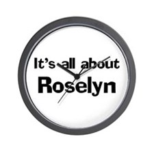 It's all about Roselyn Wall Clock