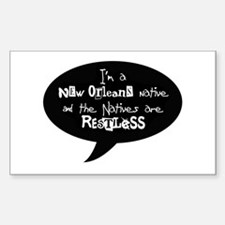 New Orleans native Rectangle Decal