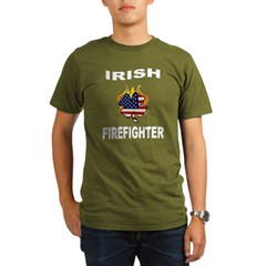 Irish USA Pride Organic Men's T-Shirt (dark)