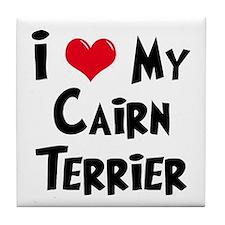 I Love My Cairn Terrier Tile Coaster