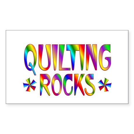 Quilting Sticker (Rectangle)