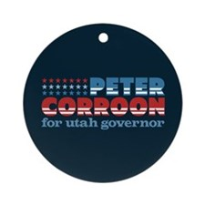 Corroon for Governor Ornament (Round)