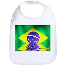 Brazil flag - flood style Bib