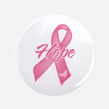 """Hope Breast Cancer 3.5"""" Button (100 pack)"""