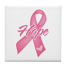 Hope Breast Cancer Tile Coaster