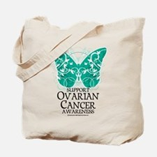 Cute Cool ovarian cancer survivor Tote Bag
