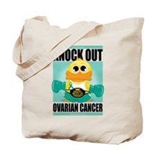 Knock Out Ovarian Cancer Tote Bag