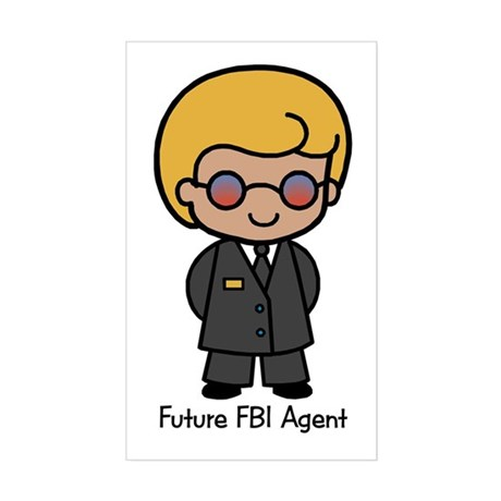 Future FBI Agent - boy Rectangle Sticker