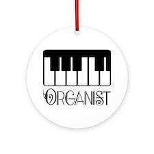 Classical Organist Ornament (Round)
