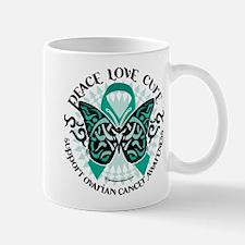 Ovarian Cancer Tribal Butterf Mug
