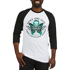 Ovarian Cancer Tribal Butterf Baseball Jersey
