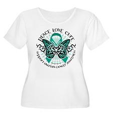 Ovarian Cancer Tribal Butterf T-Shirt