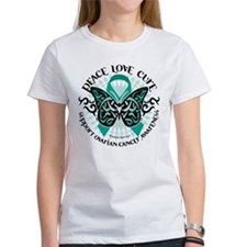 Ovarian Cancer Tribal Butterf Tee