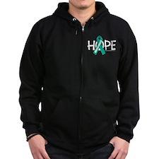 Ovarian Cancer Hope Zip Hoodie