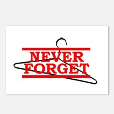 Never Forget (Abortion Hanger) Postcards (Package