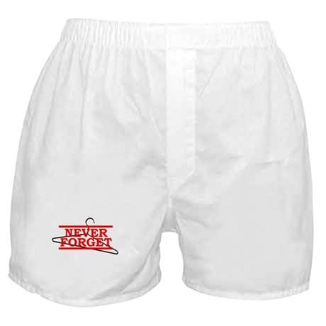 Never Forget (Abortion Hanger) Boxer Shorts