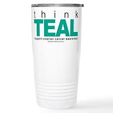Ovarian Cancer THINK TEAL Travel Mug