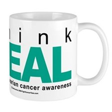 Ovarian Cancer THINK TEAL Small Mug
