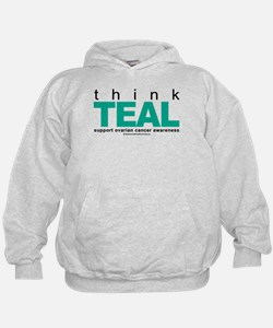 Ovarian Cancer THINK TEAL Hoodie