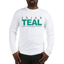 Ovarian Cancer THINK TEAL Long Sleeve T-Shirt