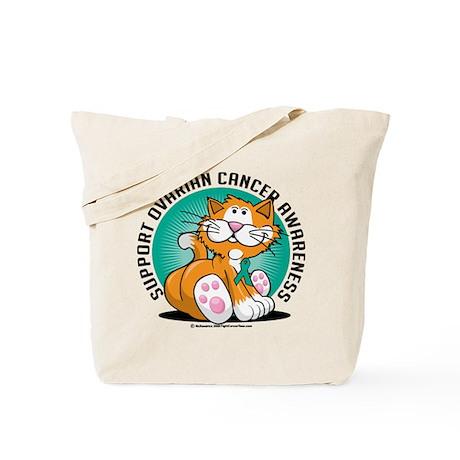 Ovarian Cancer Cat Tote Bag