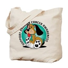 Ovarian Cancer Dog Tote Bag