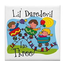 Little Daredevil 3rd Birthday Tile Coaster