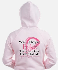 Fake 2 - Breast Cancer Zip Hoodie