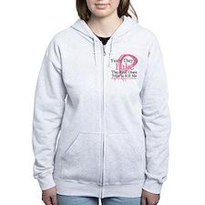 Fake 2 - Breast Cancer Zip Hoodie