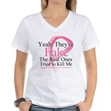 Breast cancer Womens V-Neck T-shirts